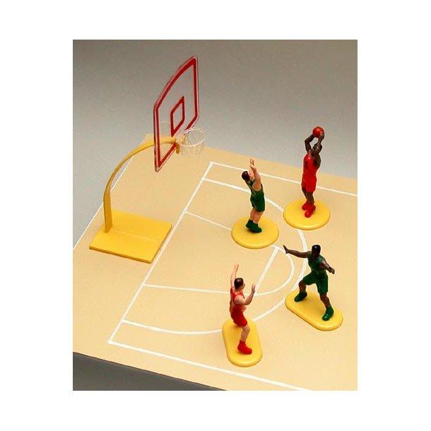 Sangskjuler - basketboldspillere og målkurv