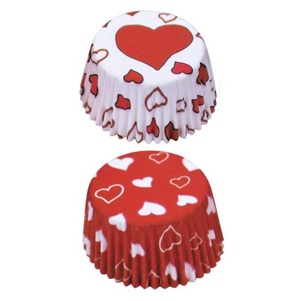 Papir bageforme til muffins med hjerter