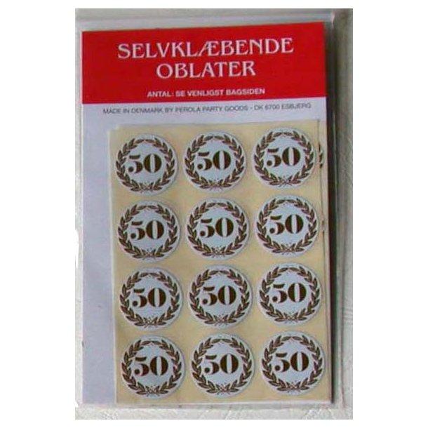 Oblater - Guldbryllup 50 år