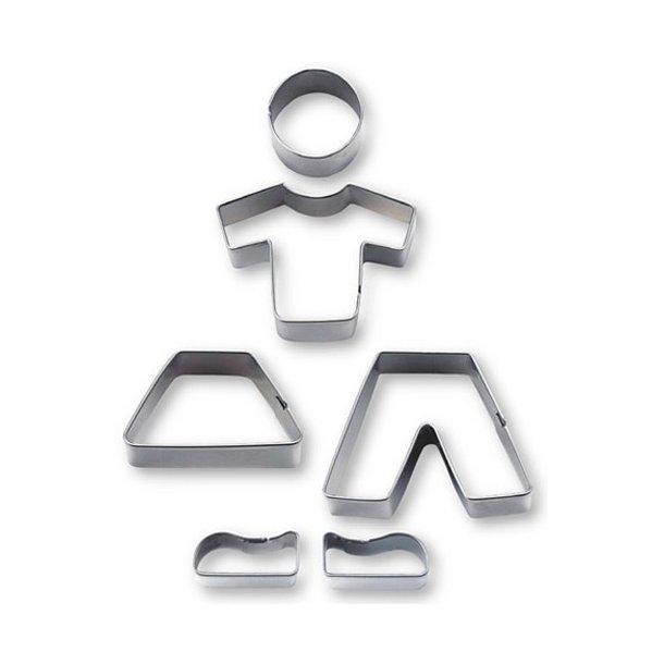 Udstikker sæt - Dreng/pige - 6 dele i rustfri stål