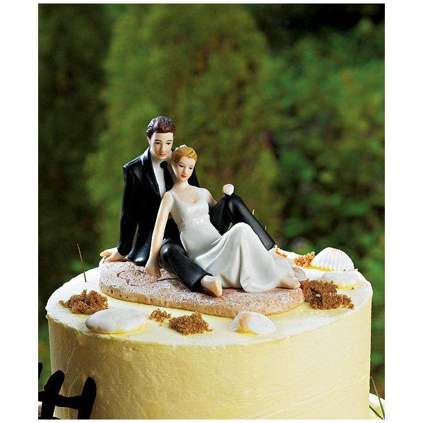 9 cm kagefigur til bryllup - Strand romantik