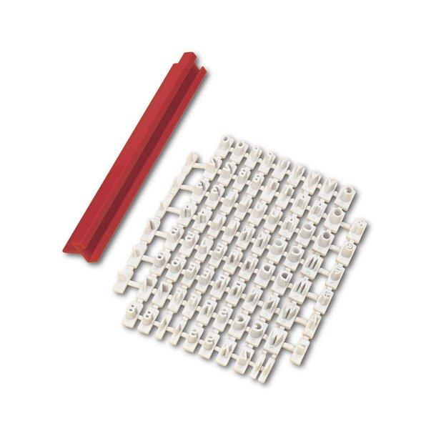 4 mm bogstaver og tal prægesæt