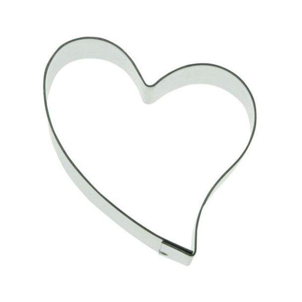 3,5 cm udstikker - Hjerte med svaj