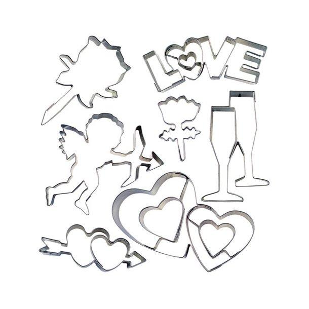 3,5 - 8 cm udstikker - romantisk sæt