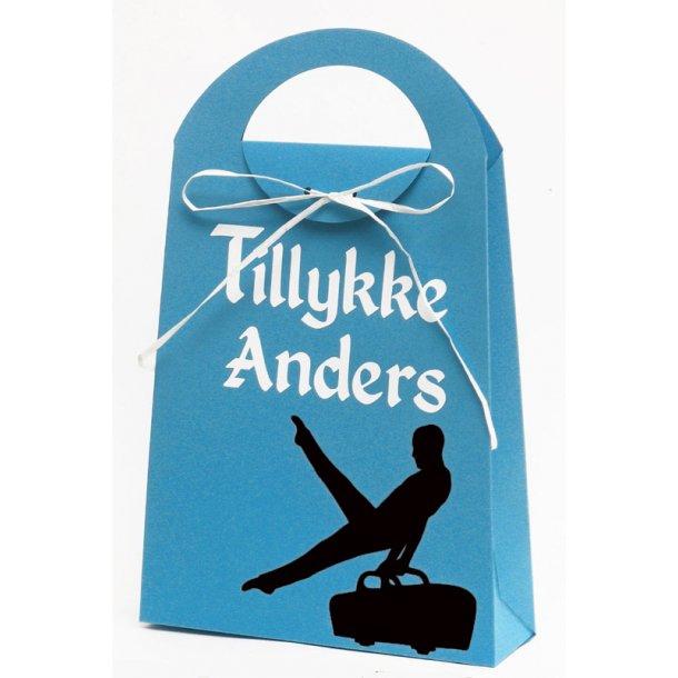 Sangskjuler - gavepose med navn - Gymnastik på buk
