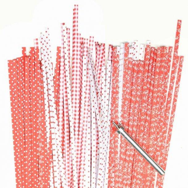 3 mm strimler - 200 stk - rød mix