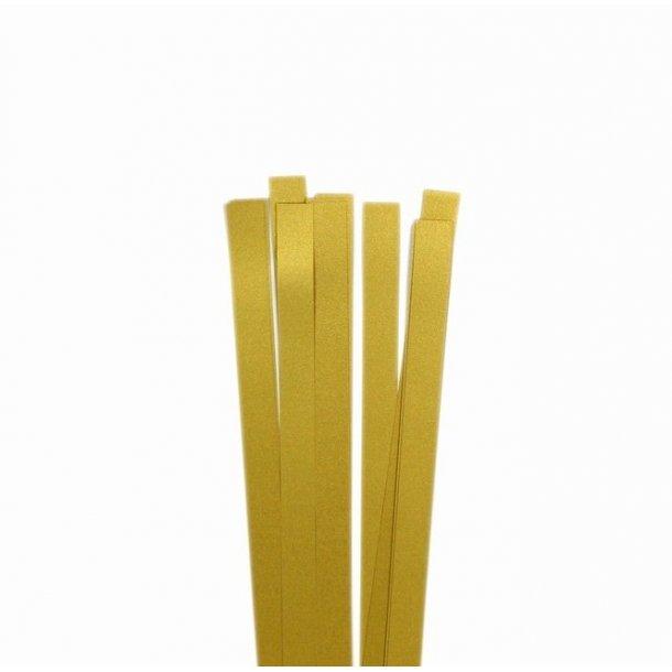 10 mm strimler - 30 stk - guld med glitter
