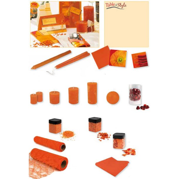 Table & Style - Farve guide - Orange / Terracotta
