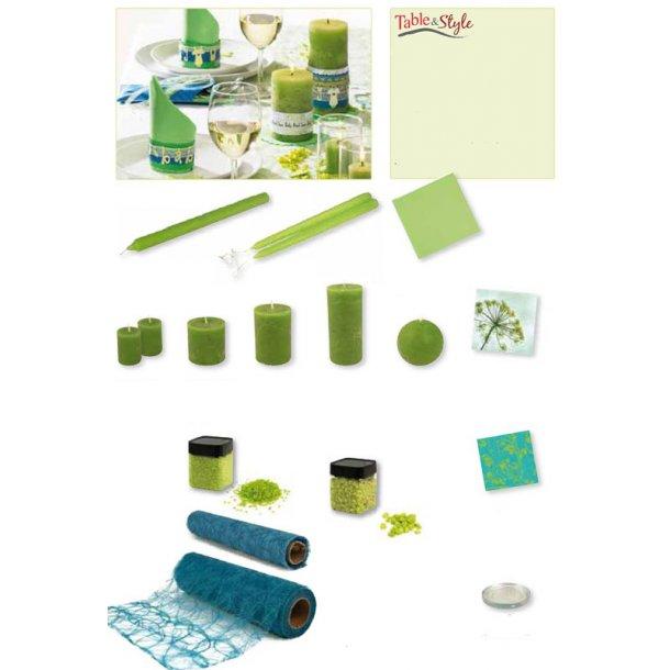 Table & Style - Farve guide - Æblegrøn / Turkis