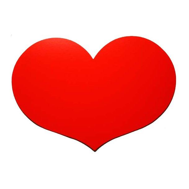 Skjold til bryllup m.m. - Rød hjerte