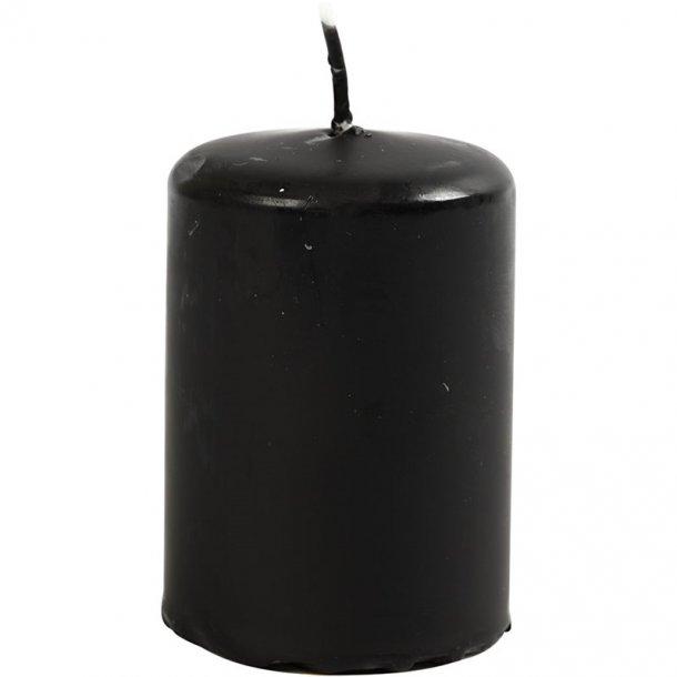 Bloklys - Sort - 12 stk. - 4x5cm