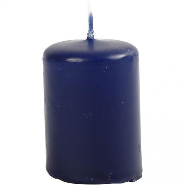 Bloklys - Mørk blå - 12 stk. - 4x5cm