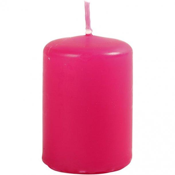Bloklys - Pink - 12 stk. - 4x5cm