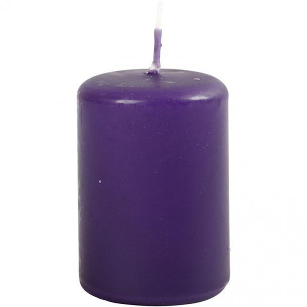 Bloklys - Mørk lilla - 12 stk. - 4x5cm