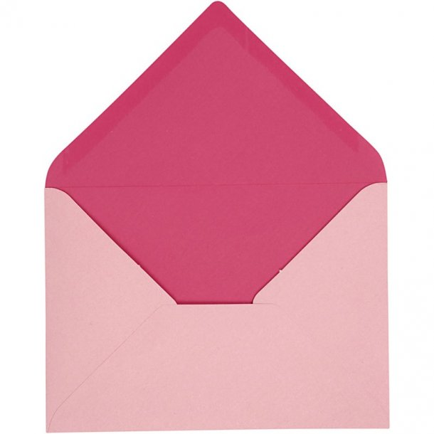 C6 Kuverter - 10 stk - Rosa