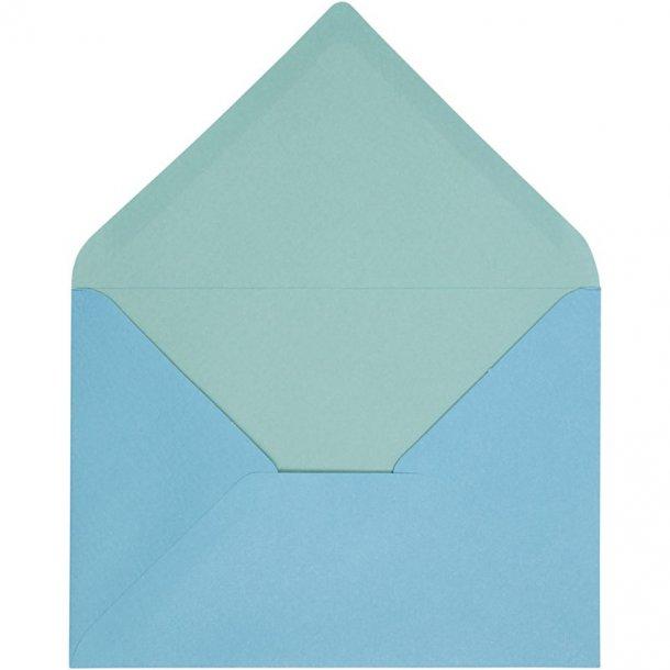 C6 Kuverter - 10 stk - Turkis