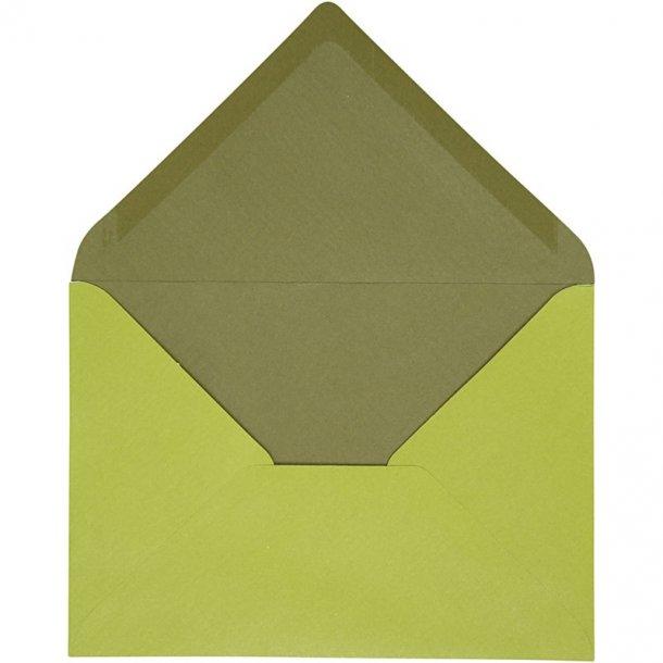 C6 Kuverter - 10 stk - Lime