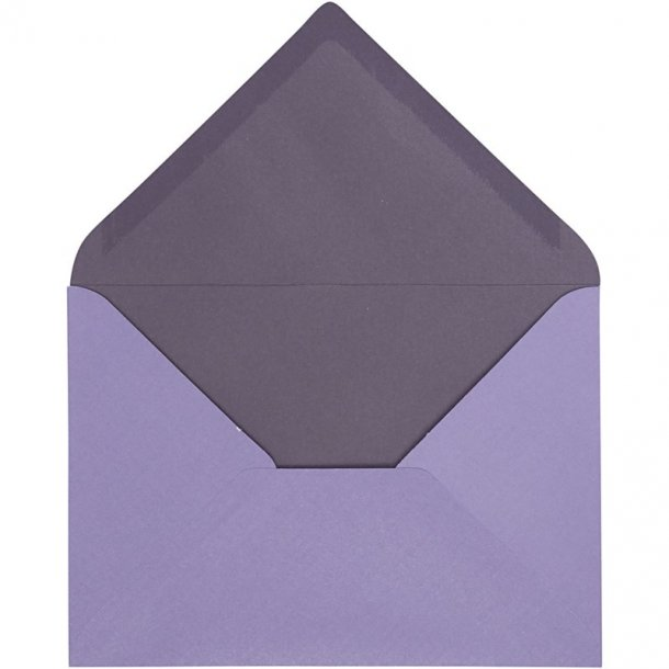 C6 Kuverter - 10 stk - Lilla