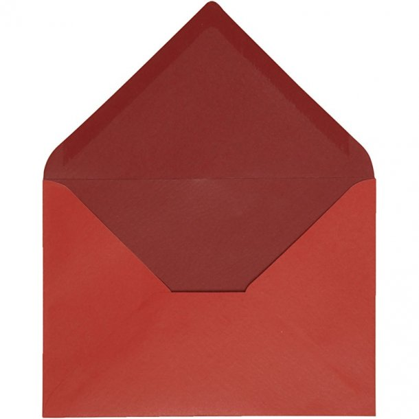 C6 Kuverter - 10 stk - Rød