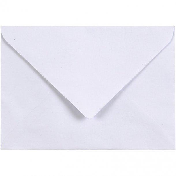 C6 Kuverter - 10 stk - Hvid