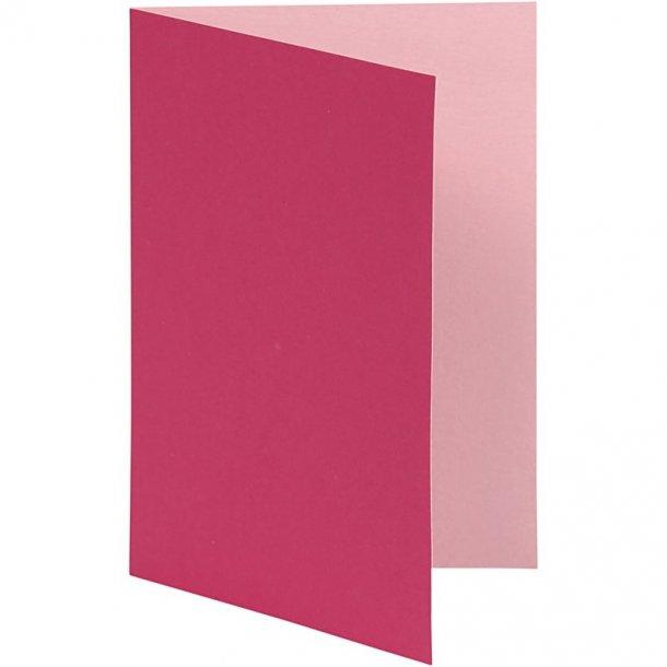 Kort - 10 stk - Pink / Rosa