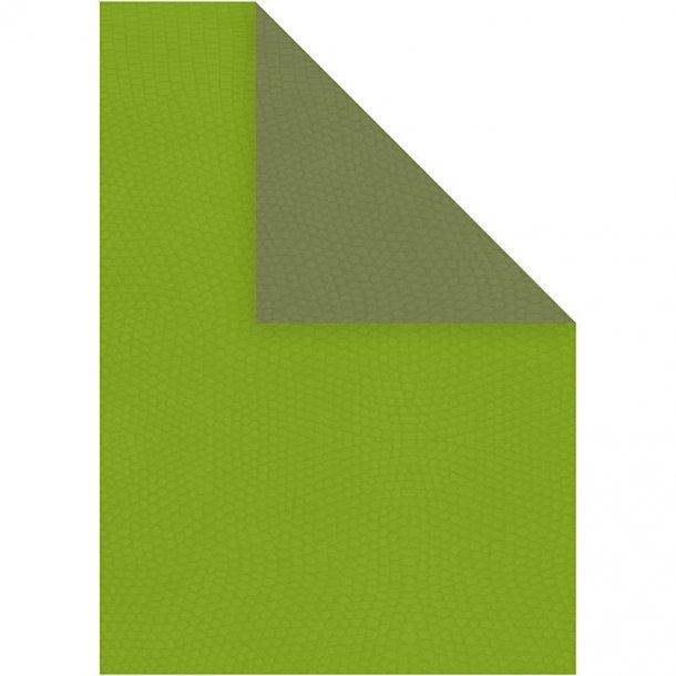 Papir - A4 - 20 stk - Mørk grøn / lime