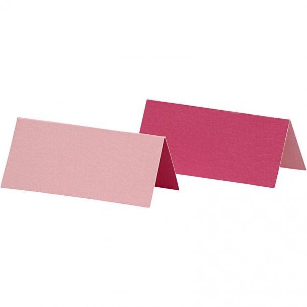Bordkort - 25 stk -  Rosa / pink
