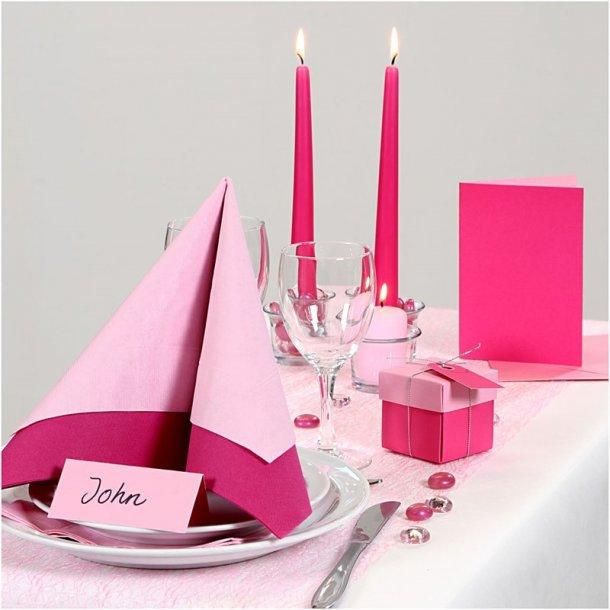 Borddækning - Rosa / pink