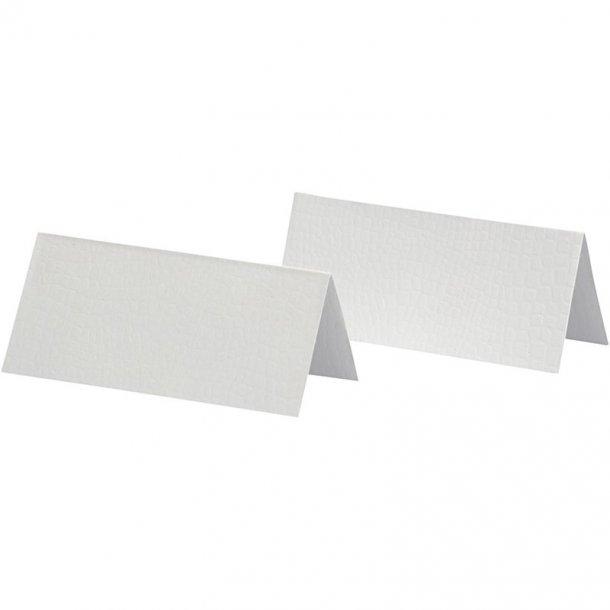Bordkort - 25 stk -  Hvid