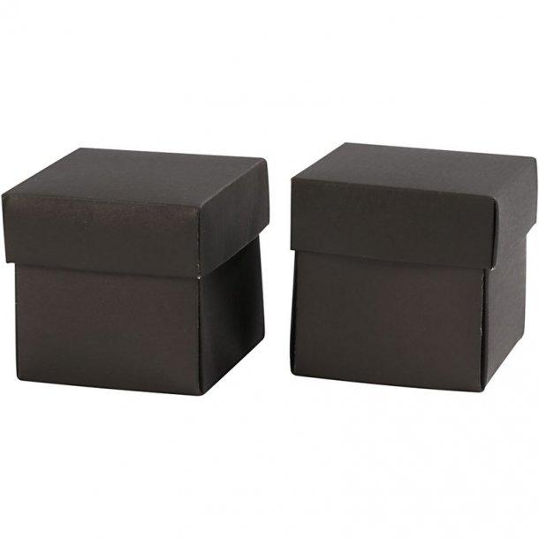 Fold-selv-æske - 10 stk - Sort