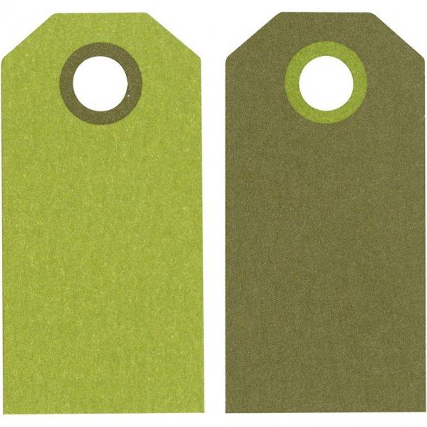 Manillamærker - 20 stk - Mørk grøn / lime