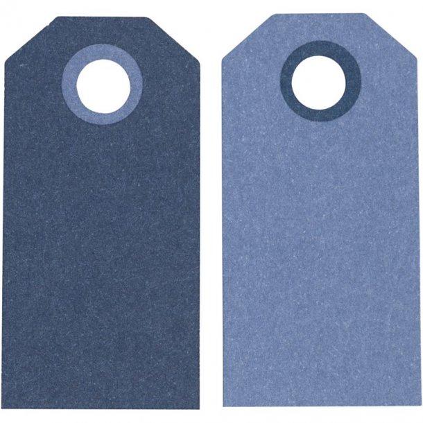 Manillamærker - 20 stk - Lys blå / mørk blå
