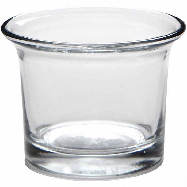 Lysglas - 6 cm - 6 stk