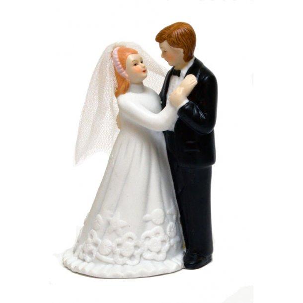 13 cm bryllups figur - Brudepar i porcelæn