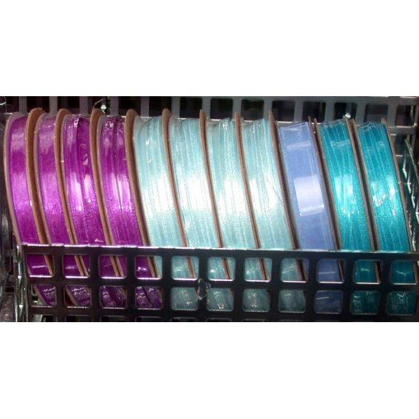 5 m Transparent bånd 5 mm lyseblå