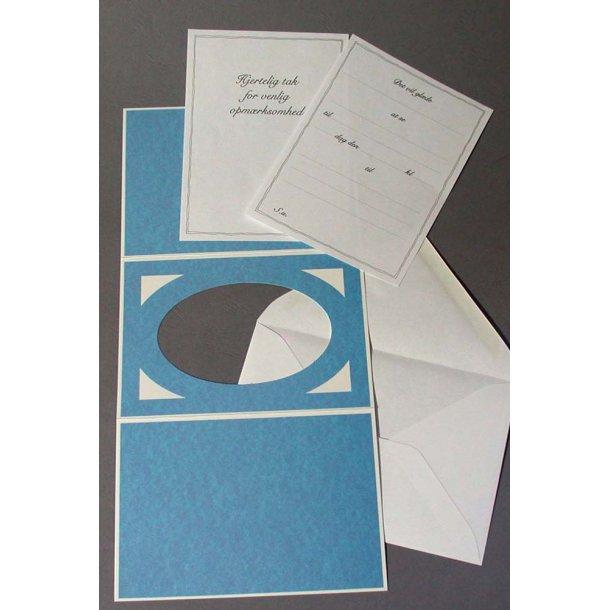Partoutkort med kuverter/konvolutter