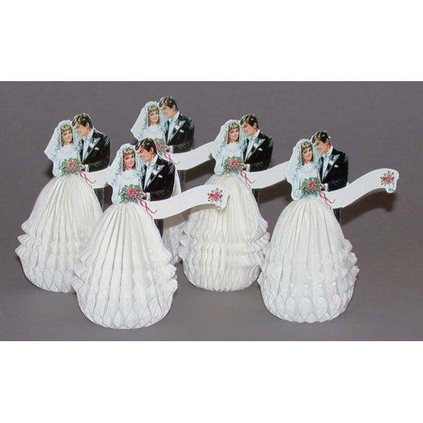 8 cm - 5 brudepar i væv