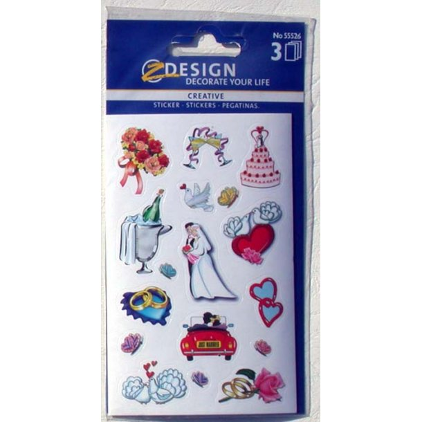 Stickers med brudeting