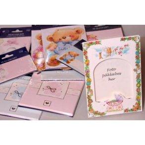 Inbydelser / bordkort til barnedåb