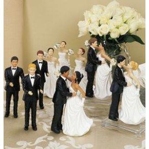 Bryllupsfigurer mix hud og hårfarve
